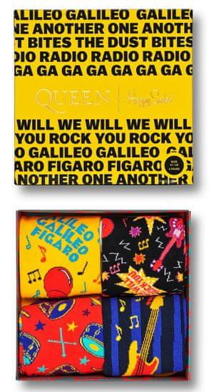 Happy Socks dárková sada ponožek Queen 4-Pack Gift box XQUE09-0100 36 - 40 vícebarevná
