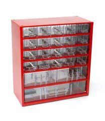 Mars Svratka, a.s. Box na nářadí MEDIUM – 20xA, 2xB, 1xC, červená barva - Mars 6731C
