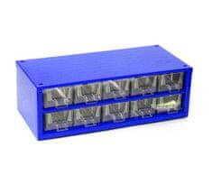 Mars Svratka, a.s. Box na nářadí MINI – 10xA, modrá barva - Mars 6737M