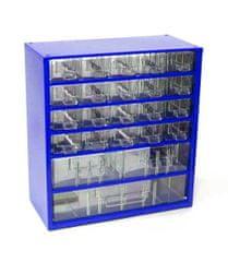Mars Svratka, a.s. Box na nářadí MEDIUM – 20xA, 2xB, 1xC, modrá barva - Mars 6731M