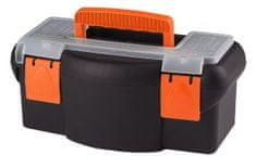 MAGG Plastový kufr na nářadí 360 x 190 x 150 mm, s přihrádkou a zásobníkem