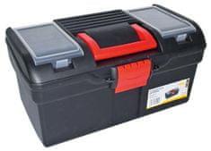 MAGG Plastový kufr na nářadí 394 x 215 x 195 mm, s 1 přihrádkou a 2 zásobníky - MAGG PP163