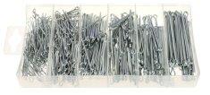 GEKO Závlačky, délka 25 - 64 mm, nerezové, sada 555 kusů