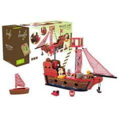 Jouéco drevená pirátska loď 36m+