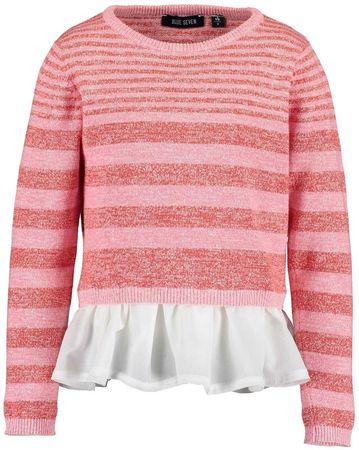 Blue Seven kötött lány pulóver, 92, rózsaszín