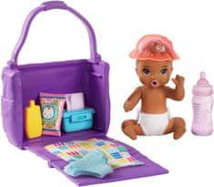 Mattel zestaw Barbie niemowlę z torbą do przewijania