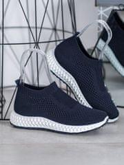 Pohodlné tenisky modré dámské bez podpatku