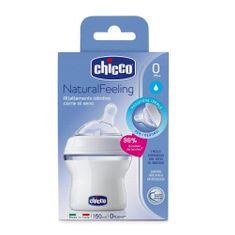 Chicco Otroška steklenica Natural Feeling bela 150ml, od 0m +