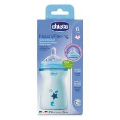 Chicco Otroška steklenica Natural Feeling za steklenice modra 330ml, od 6m +
