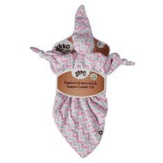 XKKO Bambusový maznáčik - Scandinavian Baby Pink Chevron