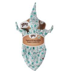 XKKO Bambusový maznáčik - Little Stars Turquoise
