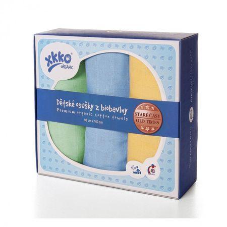 XKKO Ręczniki z bawełny organicznej stare czasy 90x100 dla chłopców