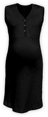 Jožánek Kojící noční košile rozepínací, bez rukávů, černá S/M