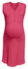 Jožánek Kojící noční košile rozepínací, bez rukávů, lososově růžová S/M