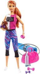 Mattel Barbie Wellness bábika ryšavé vlasy