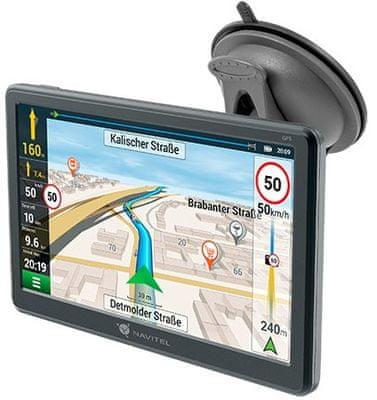 Nawigacja samochodowa GPS Navitel E707 Magnetic - mapy Europy, Rosji, Ukrainy, Kazachstanu i Białorusi, dożywotnie aktualizacje map, gniazdo kart pamięci