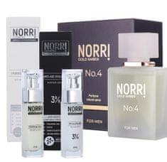 NORRI Pánský parfém 50 ml + Anti-age hyaluron 3% 30 ml + Hydratation cream 30 ml