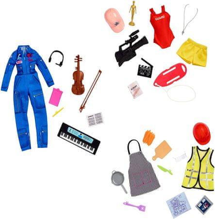 Mattel Barbie ubrania zawód - z niespodzianką
