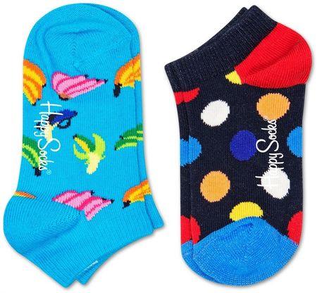 Happy Socks 2-Pack Big Dot Low Socks gyermek zokni, 12 - 24, színes
