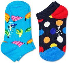 Happy Socks dětské ponožky 2-Pack Big Dot Low Socks