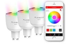 MiPOW Playbulb Spot pametna LED Bluetooth žarulja, 3 komada
