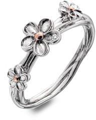Hot Diamonds Srebrni rožni prstan Pozabi me ne DR214 srebro 925/1000