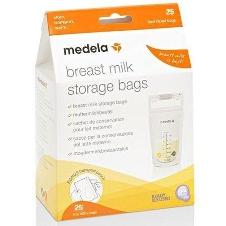 Medela eldobható táskák anyatej tárolására, 180 ml, 25 db