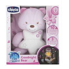 Chicco Goodnight bear svítící medvídek, růžový