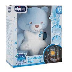 Chicco Goodnight bear svietiaci medvedík, modrý