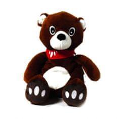 KiNECARE VM-HP24 Termofor plyšové zvieratko - tmavý medvedík, 30 x 21 cm