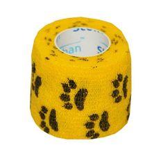 StokBan Samolepiaca bandáž 5x450cm, žltá s labkami