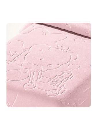 Belpla Kocyk Baby pearl ster, 521, 80x110, różowy