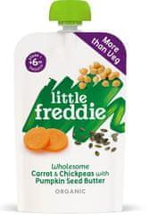 Little Freddie Zdravá zeleninová zmes z mrkvy, cíceru a masla z tekvicových semienok 6 x 120g