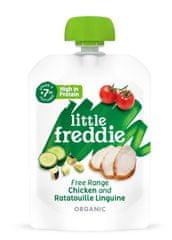 Little Freddie Linguine s kuřecím masem z volného chovu a ratatouille 6 x 130g