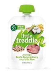 Little Freddie Aromatické kokosové curry s hovězím masem a divokou rýží 6 x 130g