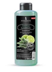 Kozmetika Afrodita šampon za lase, žajbelj & limeta, 1000 ml