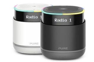 Pure StreamR radio, črno-siv