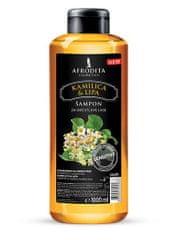 Kozmetika Afrodita šampon za lase, kamilica & lipa, 1000 ml