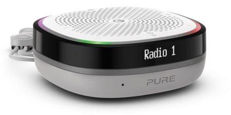 Pure StreamR Splash radio, belo-siv
