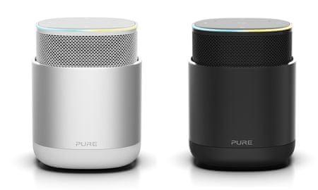 Pure DiscovR prenosni pametni zvočnik, srebrn