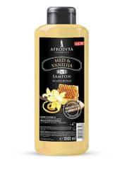 Kozmetika Afrodita šampon za lase in telo, med & vanilija, 1000 ml