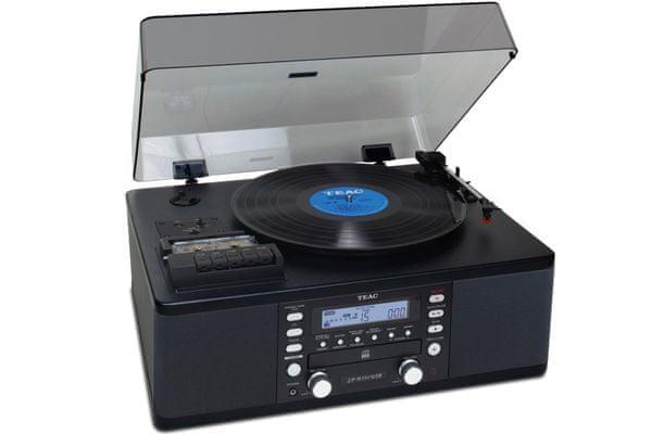 minisystém teac lp-r550usb elegantní nadčasový gramofon poloautomatika 3 rychlosti cd přehrávač cd nahrávání kazetový přehrávač kazetový recordér usb port usb pro nahrávání bassreflex reproduktory 7 w lcd dipslej podsvícený dálkové i tlačítkové ovládání
