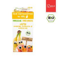 Freche Freunde BIO Ovocná kapsička Banán, hruška a marhuľa 4x100g