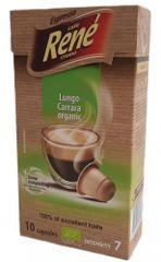 René Lungo Carrara BIO – komposztálható kapszulák a Nespresso kávéfőzőkbe, 10 db