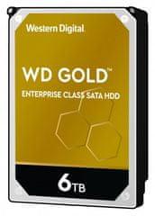 Western Digital GOLD 6 TB, SATA 6 Gb/s, 128 MB, 7200 tvrdi disk