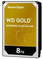 Western Digital GOLD 8 TB, SATA 6 Gb/s, 256 MB, 7200 tvrdi disk