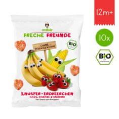 Freche Freunde BIO Chrumky Kukurica, banán a jahoda 10x25g