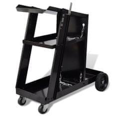 shumee Svařečský vozík se 3 policemi černý