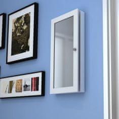 shumee Dřevěná nástěnná skříňka se zrcadlem