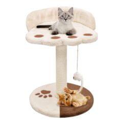 Škrabadlo pre mačky so sisalovými stĺpikmi, 40 cm, béžovo-hnedé